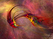 Abstract Art Print Hummingbird Print by Carlita Cooly