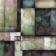 Squares Art - abstract - art-  Spring Twilight One   by Ann Powell