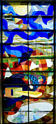 Abstract Art Stained Glass Print by Mountain Dreams