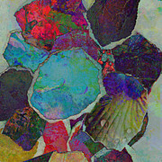 Mixed Media Collages Prints - Abstract Art Torn Collage  Print by Ann Powell