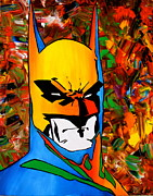 Batman Painting Originals - Abstract Bat by Cevin Cox