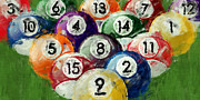 Four Fifteen Prints - Abstract Billiards Rack Print by David G Paul
