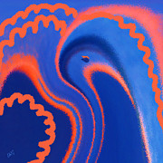 Birds - Abstract Blue Bird by Ben and Raisa Gertsberg