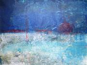 Abstract Blue Horizon Print by John Fish