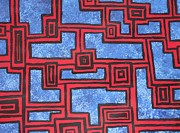Jennifer Vazquez - Abstract blue red and...