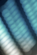 Rows Prints - Abstract Blue Reflections Print by Amy Cicconi