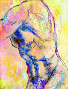 Nude Young Man Prints - Abstract Bod 6 Print by Mark Ashkenazi