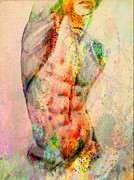 Young Man Mixed Media Posters - Abstract Body 5 Poster by Mark Ashkenazi