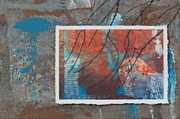 Mural Mixed Media Posters - Abstract Branch Collage Poster by Anita Burgermeister