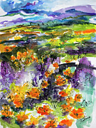Ginette Callaway - Abstract California Poppies