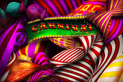 Carnivals Prints - Abstract - Carnival Print by Mike Savad