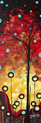 Rust Paintings - Abstract Circle Art Original Painting Winter Blossomss by MADART by Megan Duncanson