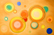 Galaxy Pastels - Abstract circles spheres #6 Original Painting Print Available by Robert R Abstract Art