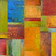 Olive Oil Prints - Abstract Color Study Collage ll Print by Michelle Calkins