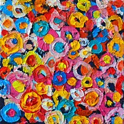 ANA MARIA EDULESCU - ABSTRACT COLORFUL FLOWERS 1 - PAINT JOY SERIES