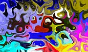 Judy Minderman Metal Prints - Abstract Colors Metal Print by Judy Minderman