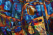 Randall Nyhof - Abstract Composition of Junked Truck Interior