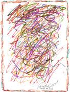 Abstract Confetti Celebration Print by Joseph Baril