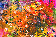 Abstract - Crayon - The Excitement Print by Mike Savad