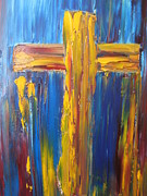 Cross Art - Abstract Cross by Rachael Pragnell