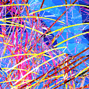 Pyrotechnics Prints - Abstract Curvy 28 Print by Russell Kightley
