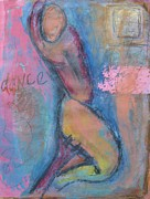 Female Art Mixed Media Print Mixed Media Posters - Abstract Dancer Poster by Venus