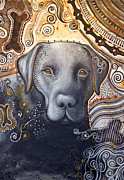 Amy Giacomelli - Abstract Dog Art Print...