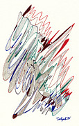 Abstract Drawing Fifty-one Print by Lynne Taetzsch