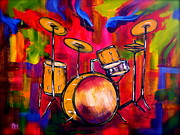 Abstract Drums II Print by Pete Maier