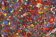 Crazy Metal Prints - Abstract - Fabric Paint - Sanity Metal Print by Mike Savad