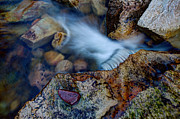 Stream Framed Prints - Abstract Falls Framed Print by Chad Dutson