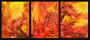 Abstract Fireplace Print by Irina Sztukowski