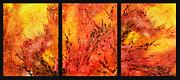 Abstract Fireplace Print by Irina Sztukowski