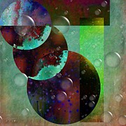 Abstract - Floaters Print by Liane Wright