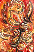 Irina Sztukowski - Abstract Floral Design Warm Twirl