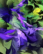 Botanical Fantasy Series - Abstract Floral Expression 041413 by David Lane
