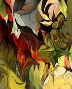 Botanical Fantasy Series - Abstract Floral Expression 041813 by David Lane