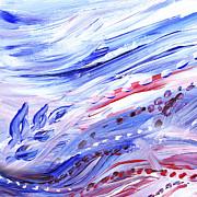 Irina Sztukowski - Abstract Floral Marble Waves