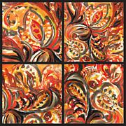 Irina Sztukowski - Abstract Floral Quartet