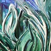Irina Sztukowski - Abstract Floral Sky Through The Leaves