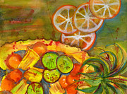 Wall Art Painting Originals - Abstract Food Kitchen Art by Blenda Studio