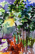 Ginette Fine Art LLC Ginette Callaway - Abstract Forest Path #3