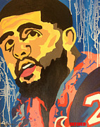 Nfl Painting Posters - Abstract Foster Poster by Chelsea VanHook