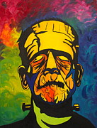 Bolts Paintings - Abstract Frank by Cevin Cox