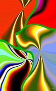 Luminous Digital Art Posters - Abstract Fusion 200 Poster by Will Borden