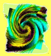 Curves Digital Art - Abstract Fusion 201 by Will Borden