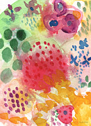 Floral Card Prints - Abstract Garden #43 Print by Linda Woods