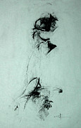 Beauty Mark Drawings - Abstract Gesture 002 by John Arthur Ligda