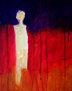 Hallucination Painting Prints - Abstract Ghost Figure No. 1 Print by Nancy Merkle