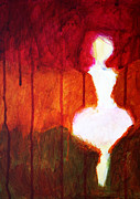 Hallucination Painting Prints - Abstract Ghost Figure No. 2 Print by Nancy Merkle